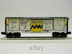 LIONEL PEANUTS SNOOPY COMIC ART WINTER BOX CAR O GAUGE train cartoon 6-84678 NEW