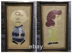 Large Vintage Wall Picture Art Charlie Brown Lucy Snoopy Peanuts