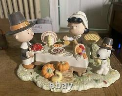 Lenox Giving Thanks figurine Peanuts gang Charlie Brown Snoopy Thanksgiving Mint