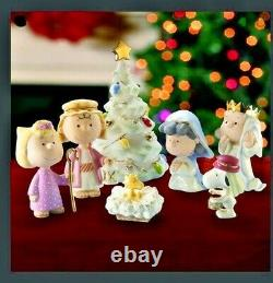 Lenox Nativity Peanuts Christmas Pageant 7pc Snoopy Charlie Brown NEW IN BOX