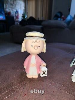 Lenox Peanuts Christmas Pageant Nativity 7 Piece Set Charlie Brown Snoopy