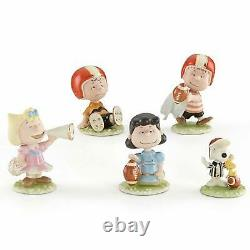 Lenox Peanuts Football 5 Pc Figurine Set Charlie Brown Snoopy Lucy Linus NIB