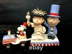 Lenox Peanuts Snoopy INDEPENDENCE DAY Charlie Brown