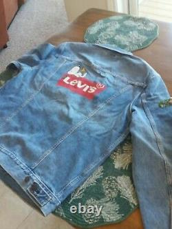 Levi's Trucker Jacket Brand New peanuts Charlie Brown Snoopy Charles Schulz