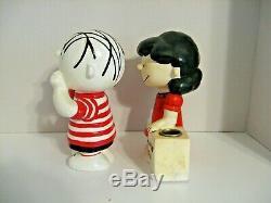Lot 4 vintage Peanuts candle holders Snoopy Charlie Brown Lucy Linus Hallmark