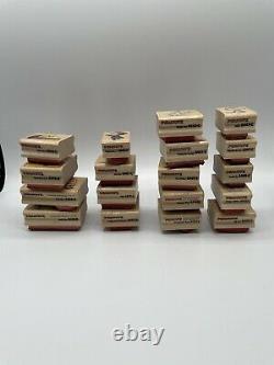 Lot Of 18 Wooden Peanuts Rubber Stampede Vintage Stamps Snoopy Charlie Brown