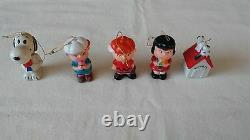 Lot Of 5 Snoopy Lucy Charlie Brown & More Ornaments United Feature Syndicates