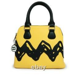 Loungefly PEANUTS Snoopy Charlie Brown Handbag Backpack Yellow