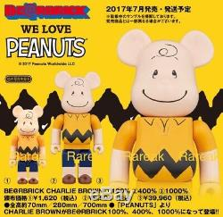 Medicom Be@rbrick 2017 The Peanuts Comic Snoopy 400% Charlie Brown Bearbrick 1pc