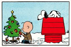 Mondo Peanuts Tree Poster CHARLIE BROWN SNOOPY By Charles Schulz x/175 24x16