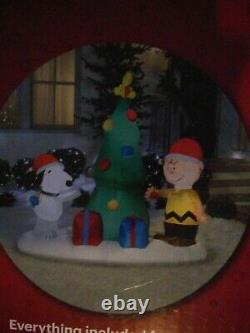 NEW 6' Peanuts Snoopy Woodstock Charlie Brown airblown tree inflatable Gemmy