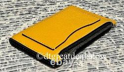NEW Coach X Peanuts Slim Bifold Card Wallet With Charlie Brown C4307 Ochre NWT
