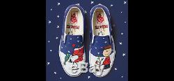NEW RARE Vans Christmas Peanuts Classic Slip-On Shoes Charlie Brown Snoopy Tree