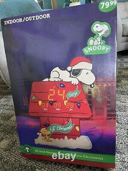 NICE! 36 inch Snoopy Countdown to Christmas clock Charlie Brown peanuts Til