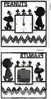 Okaimono SNOOPY Snoopy Wall Clock Acrylic Clock / Square Charlie Brown LTD JP