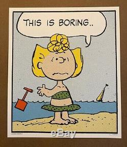 Peanuts Boring Charles Schulz Charlie Brown Snoopy Print Mondo Poster