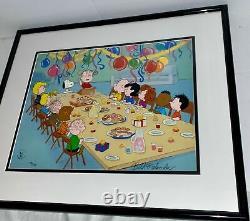Peanuts Cel Charlie Brown Christmas Pumpkin Snoopy Bill Melendez 8 Cell Set