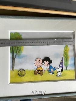 Peanuts Cel Charlie Brown Snoopy
