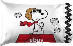 Peanuts Charlie Brown Snoopy Lucy White Black 7 pc Comforter Set Twin Full Bed
