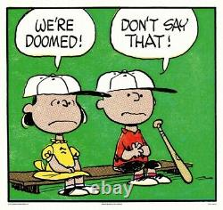 Peanuts Doomed Charles Schulz Charlie Brown/Snoopy Print/Poster MONDO Sold Out