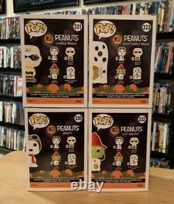 Peanuts Halloween Funko Pop #330 Snoopy #331 Charlie Brown #332 Lucy #333 Ghost