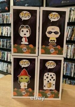 Peanuts Halloween Funko Pop #330 Snoopy #331 Charlie Brown #332 Lucy #333 Ghost