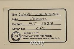 Peanuts Production Cel Snoopy What A Nightmare, Charlie Brown Bill Melendez Auto
