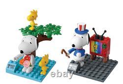 Peanuts Snoopy 70th Anniversary Memorabilia Figure Set Building Block Toy