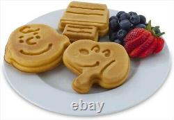 Peanuts Snoopy and Charlie Brown Smart Planet WM6S Waffle Maker Kitchen FS