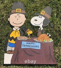 Peanuts Thanksgiving Yard Art 40 Charlie Brown Snoopy Lawn Holiday Decoration