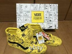 Peanuts Vans Snoopy Charlie Brown SK8 Hi Reissues Yellow Shoes Men's 11