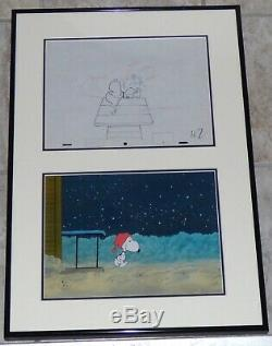 Peanuts What A Nightmare Charlie Brown Snoopy Original Production Cel + Drawing