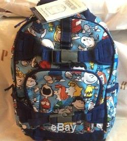 Pottery barn SET Peanuts SNOOPY BACKPACK + ICE PACK WOODSTOCK Charlie Brown dog