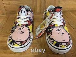 RARE VANS ERA Charlie Brown And The Gang Snoopy Toddler Baby Shoes Sz 10 NEW
