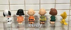 Rare Charlie Brown Snoopy and the Peanuts, 6 PVC FIG. SCHLEICH, W. Germany 1972
