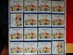 Rare Peanuts Tea Cups Set of 16 Snoopy Charlie Brown Hong Kong