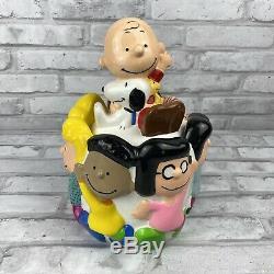 Rare Vintage UFS Peanuts Gang Charlie Brown Snoopy Ceramic Cookie Jar