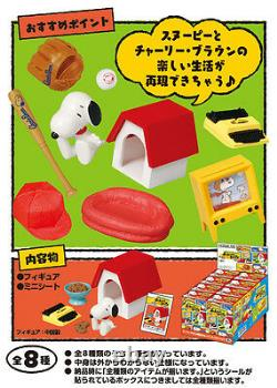 Re-Ment Miniature Peanuts Snoopy Charlie Brown's School Days Full set 8 pieces