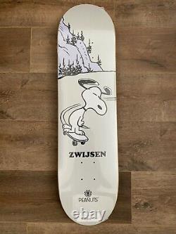 SNOOPY ELEMENT x PEANUTS SKATEBOARD DECK Nyjah Huston Phil Zwijsen 8.125 RARE