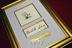 Signed CHARLES SCHULZ Autograph, SNOOPY Etching, COA, UACC, Park West & Frame