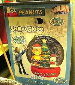 Snoopy Christmas Peanuts Inflatable Snow Globe 6 Charlie Brown HH