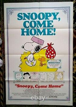 Snoopy Come Home movie poster CHARLES M SCHULZ Peanuts CHARLIE BROWN Animated 72