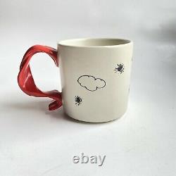 Snoopy Flying Ace Mug Red Scarf Peanuts Charlie Brown Baron Woodstock Hallmark