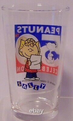 Snoopy Glass Set 50th Anniversary Peanuts Sasaki Charlie Brown Lucy Linus Japan