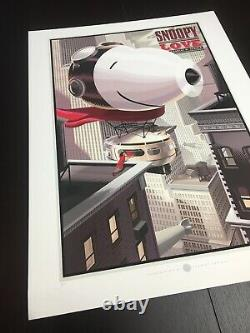 Snoopy Love Durieux Peanuts Snoopy Charlie Brown Limited Edition Print! $125