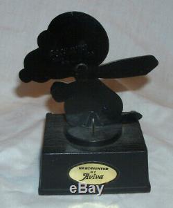 Snoopy Peanuts Red Baron Aviva Vintage Trophy Figure Figurine 1972 Charlie Brown