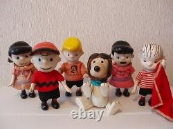 Snoopy Pocket Doll 6p SNOOPY Flying Ace Charlie Brown Schroeder Linus Lucy 18cm