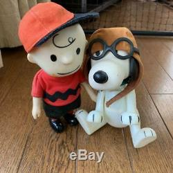 Snoopy vintage Charlie Brown & Snoopy pocket doll 1967 removable cap peanuts