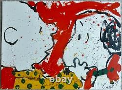 TOM EVERHART DOGGIE DEAREST 1999 PEANUTS Charlie Brown SNOOPY Hand signed