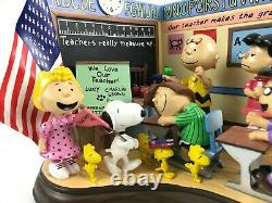 The Danbury Mint YOURE A CLASS ACT Charlie Brown Snoopy School Figurine